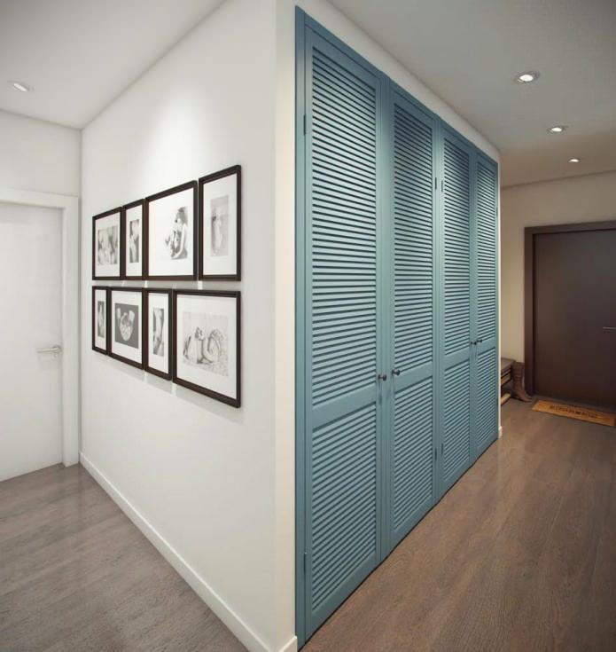 conception de couloir dans un appartement de 52 m².  m.