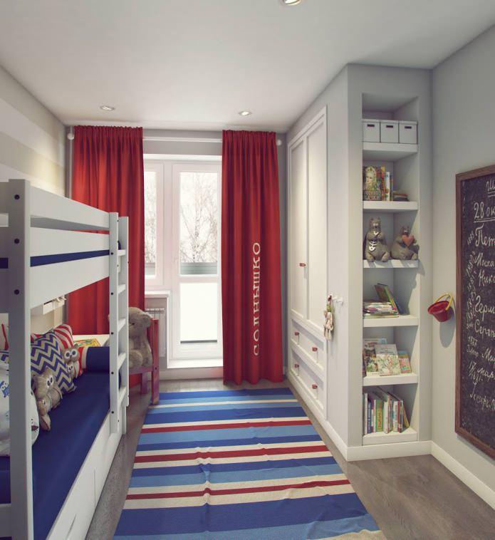 conception d'une chambre d'enfants 9,5 m²  m.
