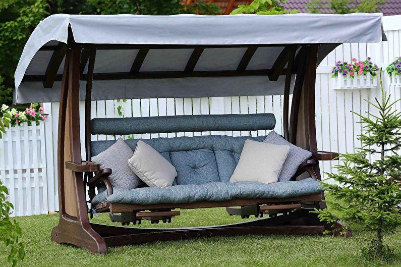 Types de balançoire pour chalets d'été - Balançoire de jardin pour des vacances reposantes