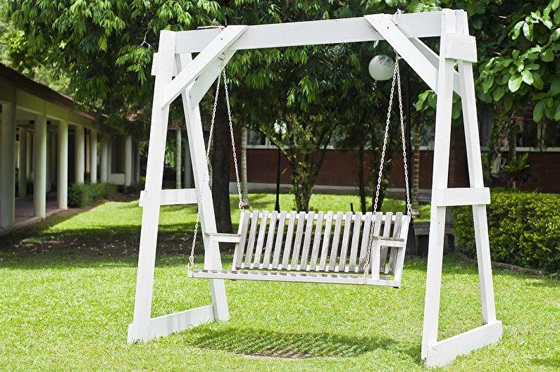 Matériaux pour fabriquer une balançoire pour une résidence d'été - Bois