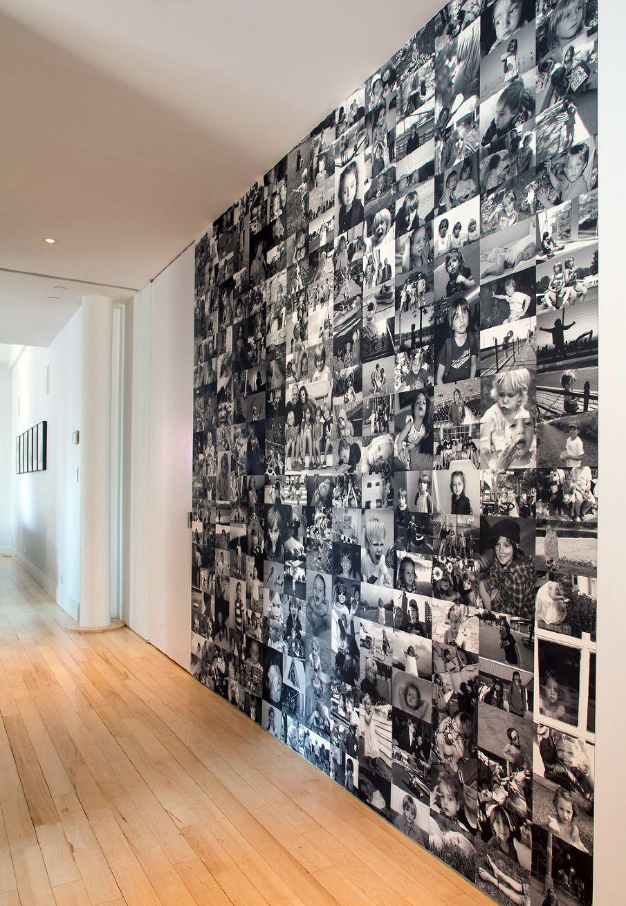 Au lieu de papier peint - tout le mur est en photos