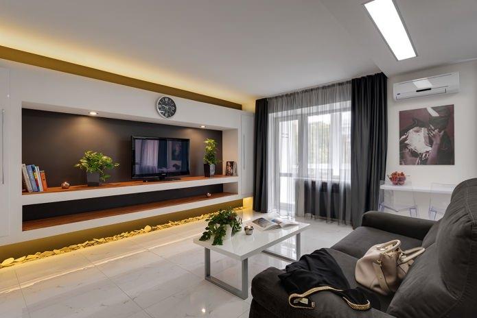 Intérieur de cuisine-salon dans un style moderne
