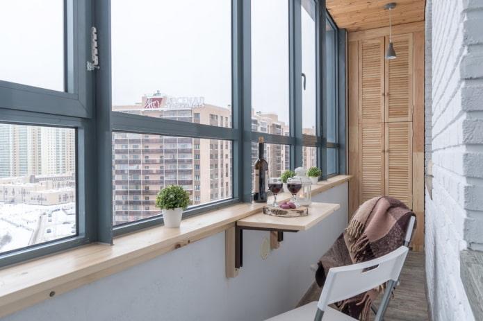 décoration balcon fermé