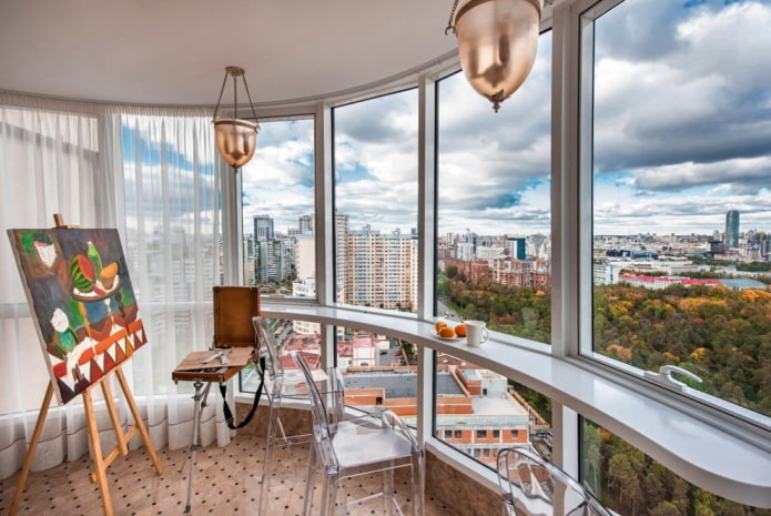 conception d'espace de balcon