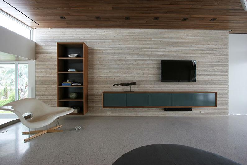 Mur avec TV - Panneaux et cloisons