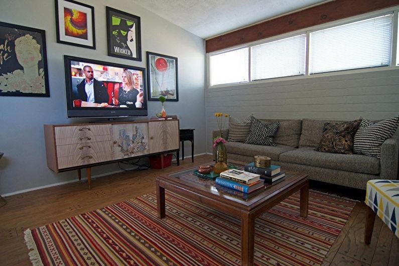 Mur avec TV - Finition et décor