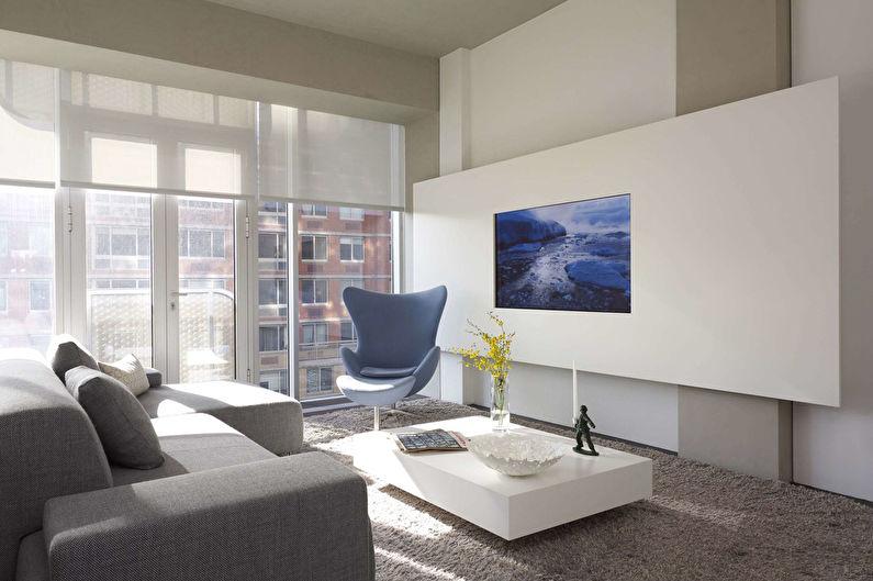 Mur TV - Construction en plaques de plâtre