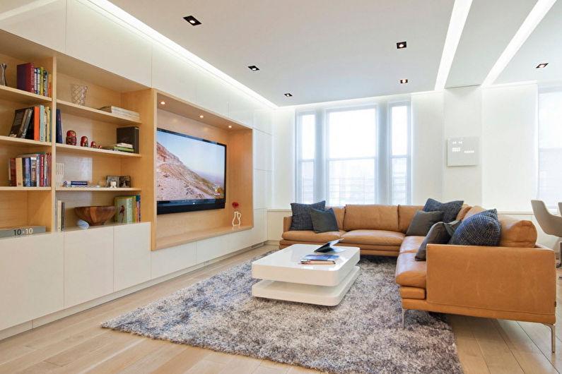 Mur avec TV - TV dans une niche