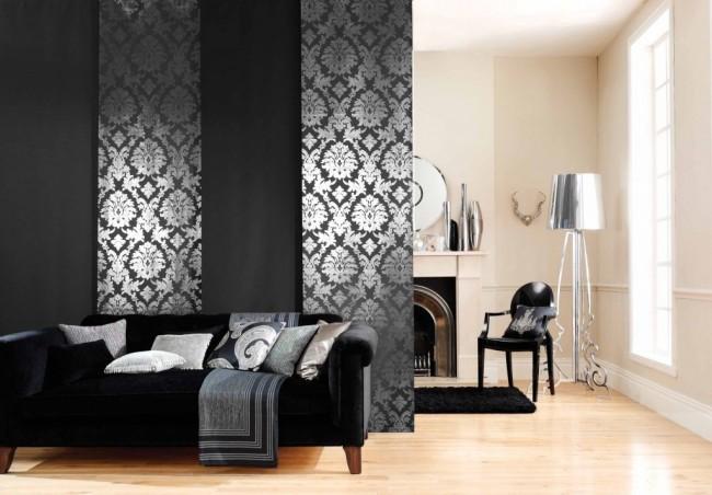 Les rideaux japonais sont les seuls qui permettent d'admirer le motif complexe sur eux, puisque le tissu ne colle jamais ensemble