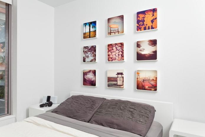 Photos Instagram sur le mur à l'intérieur