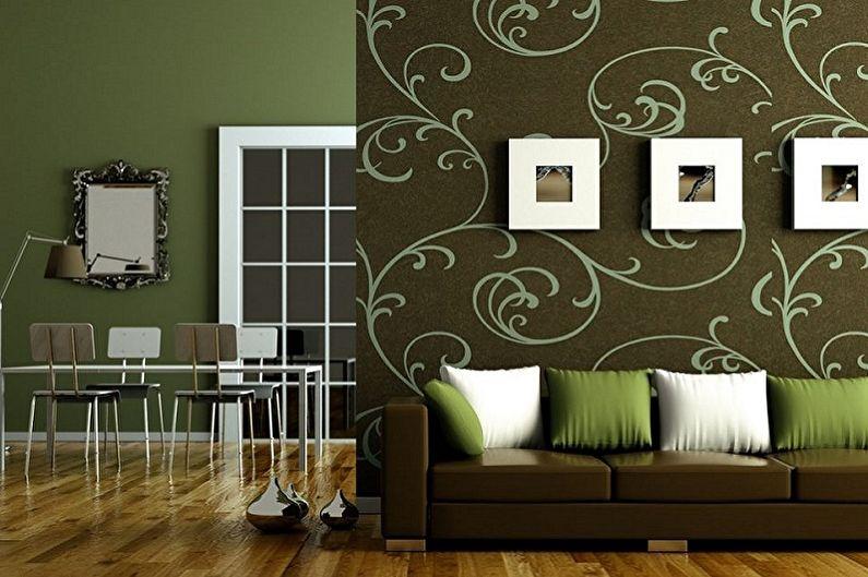 Combinaison de papier peint à l'intérieur - Combinaisons de couleurs