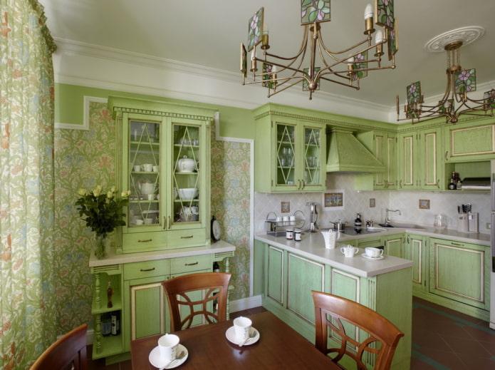 schéma de couleurs de la cuisine classique