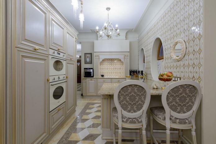 design d'intérieur de cuisine classique