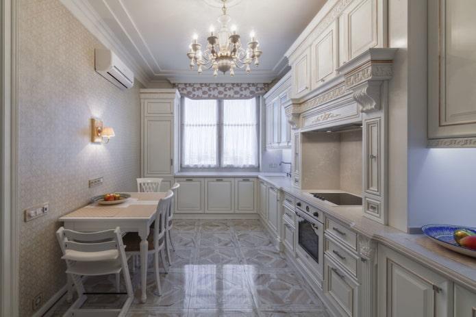 revêtement de sol à l'intérieur d'une cuisine classique