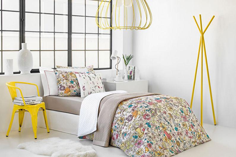 Chambre pour une adolescente dans un style moderne - Design d'intérieur