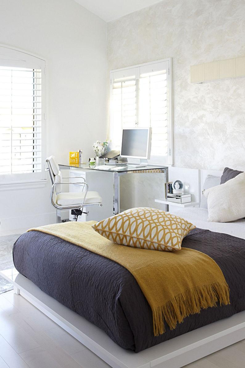 Chambre pour une adolescente dans le style du minimalisme - Design d'intérieur