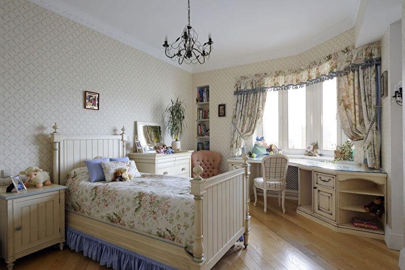 Chambre d'adolescente de style provençal - Design d'intérieur