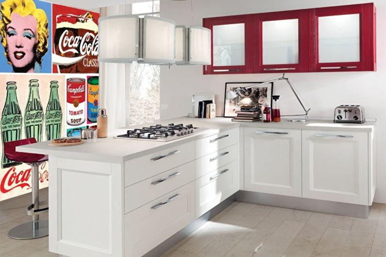Pop Art Cuisine Rouge - Design d'intérieur