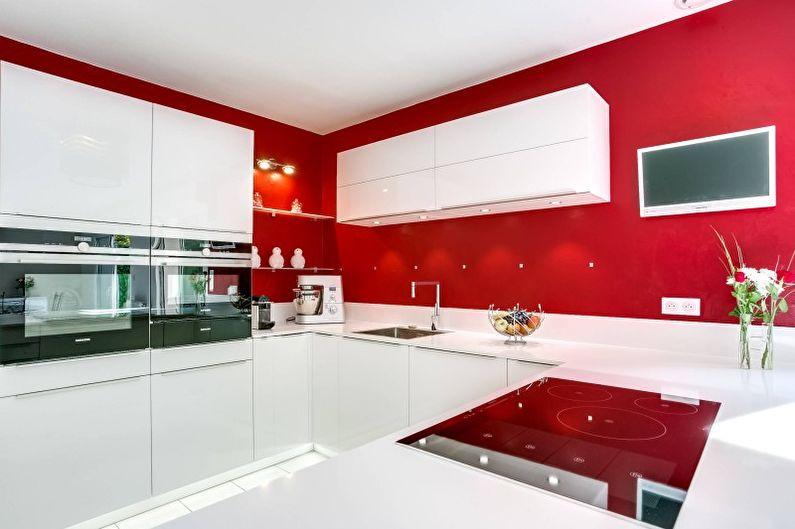 Design de cuisine rouge - Décoration murale