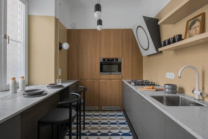 décoration de la cuisine dans le style moderne