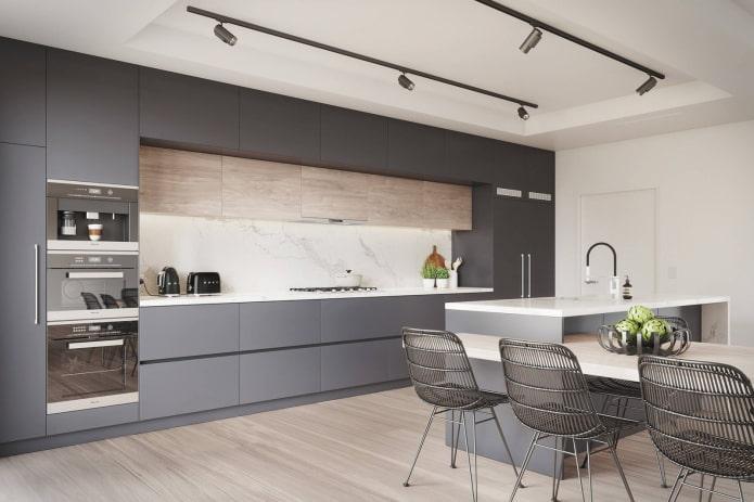 palette de couleurs de la cuisine moderne