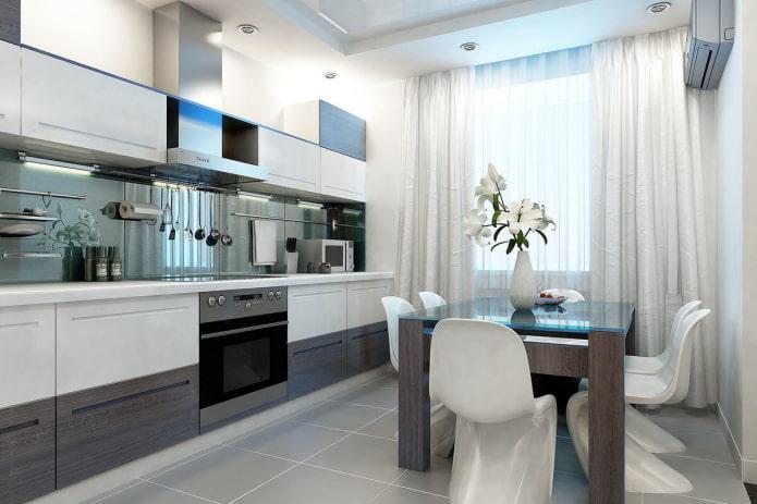 conception du groupe à manger dans la cuisine dans un style moderne