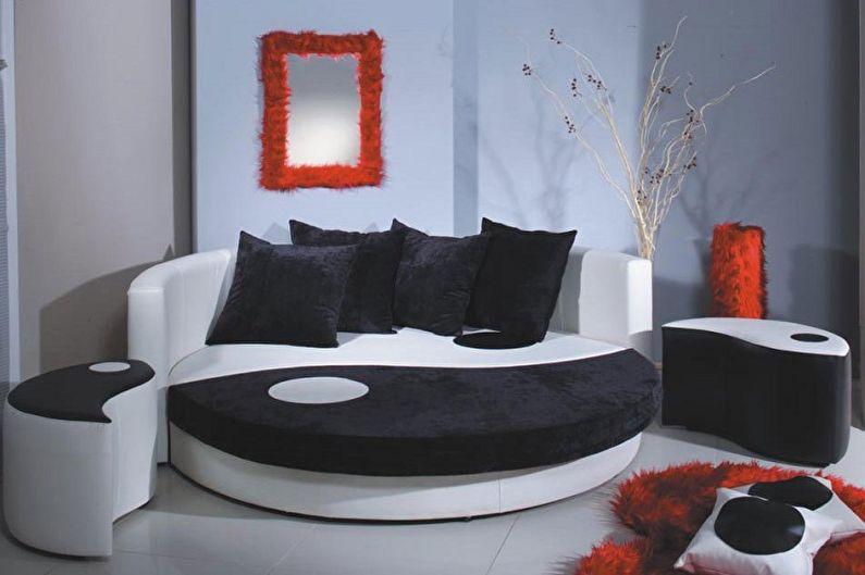 Types de lits ronds dans la chambre - Canapé-lit