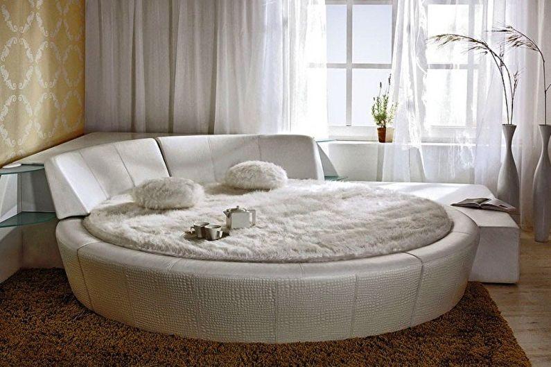Types de lits ronds dans la chambre - Lit avec tête de lit et côtés