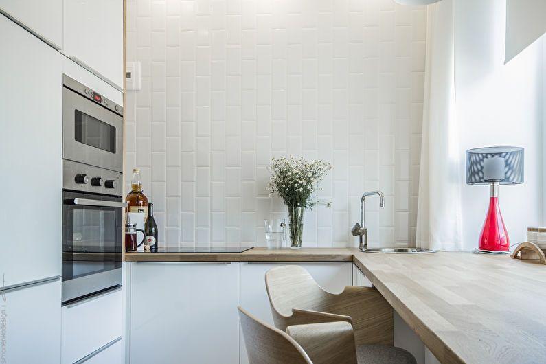 Cuisine blanche 6 m²  - Design d'intérieur