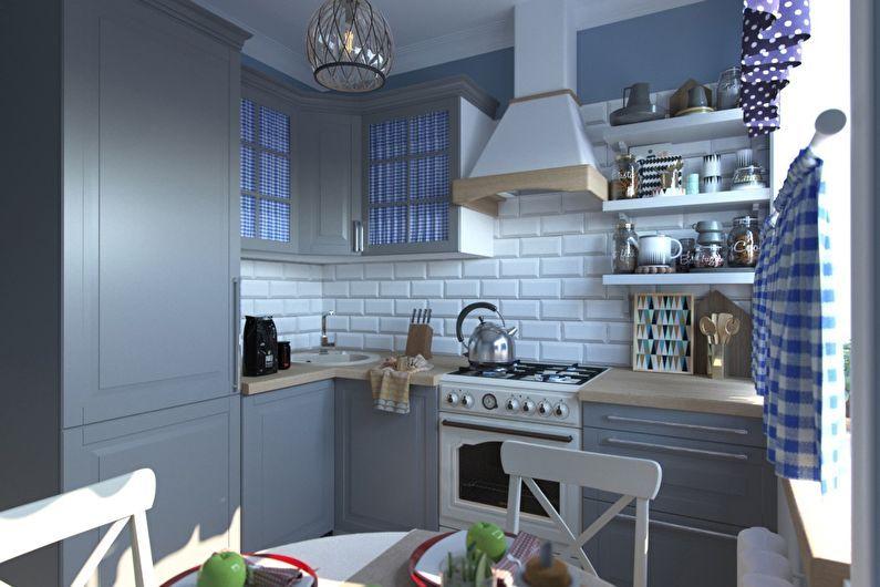 Conception de cuisine 6 m²  à la provençale