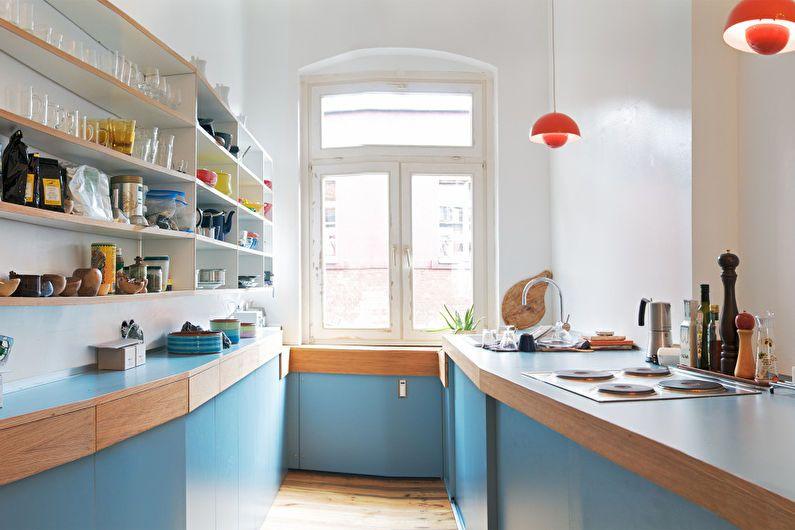 Cuisine bleue 6 m²  - Design d'intérieur