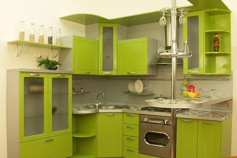 Cuisine verte 6 m²  - Design d'intérieur