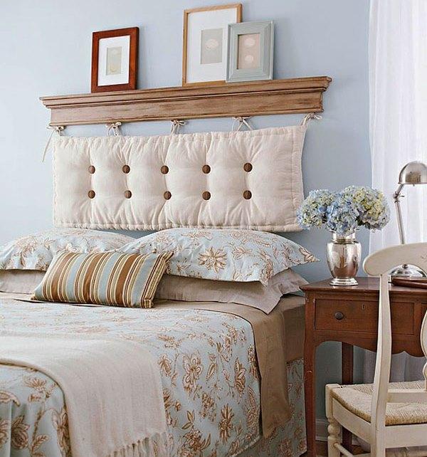 Oreiller textile doux en tête de lit