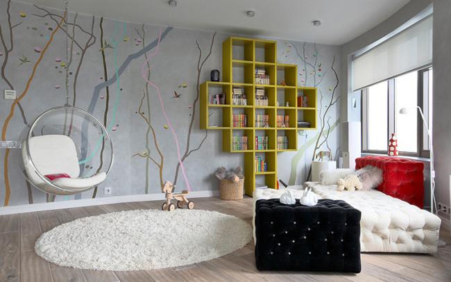 Comment décorer la chambre d'une adolescente de ses propres mains?  Très simple!  Pour la chambre d'une adolescente, des murs peints et des poufs moelleux, que vous pouvez fabriquer vous-même, conviennent