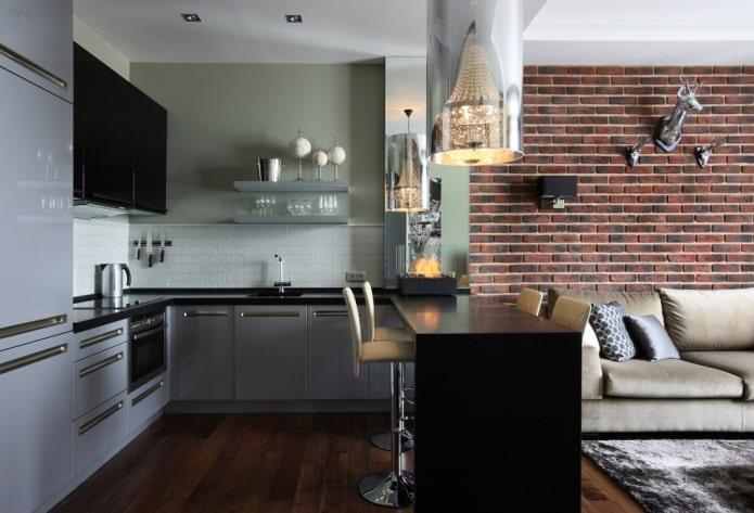 design d'intérieur de cuisine-studio