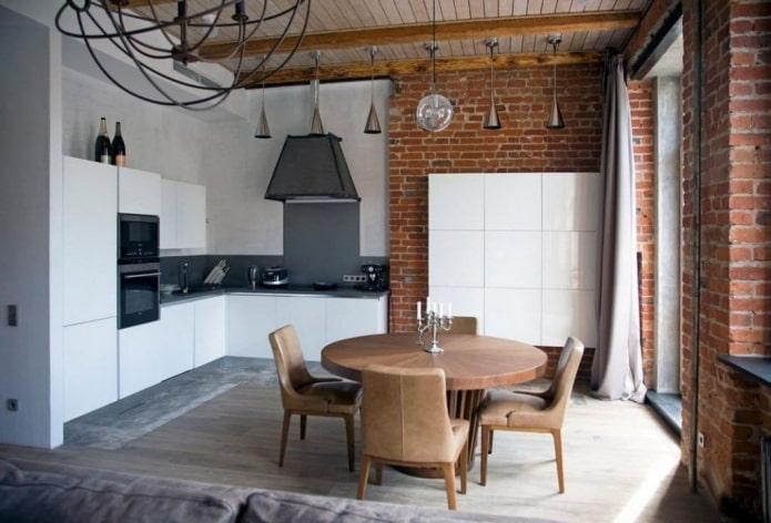 conception de studio de cuisine en blanc