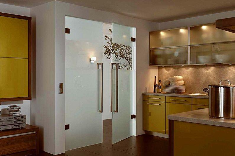 Portes intérieures en verre - Types