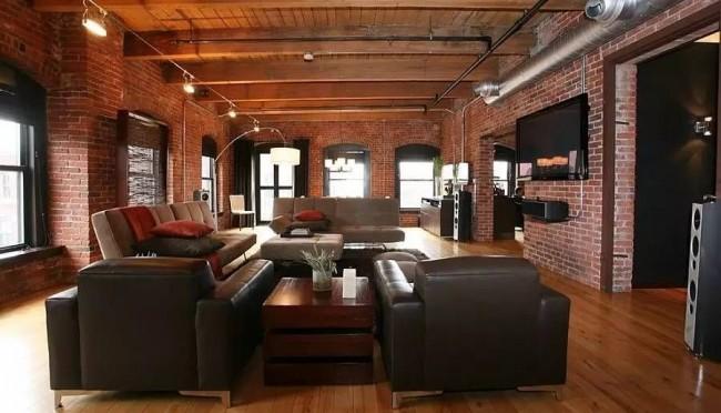 Le principe de base du style loft est les espaces ouverts.