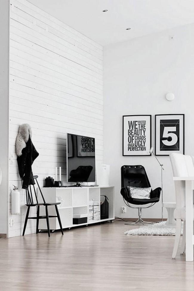 Un mur de socialisation dans un salon moderne