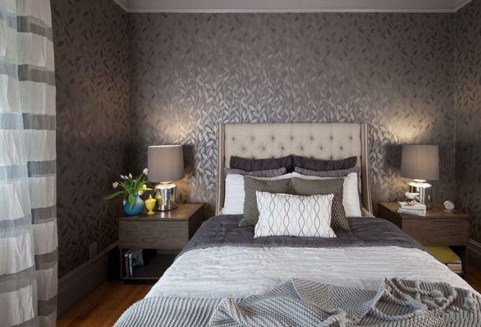 Papier peint intissé dans la conception de la chambre