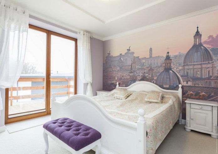 photos murales dans la conception de la chambre