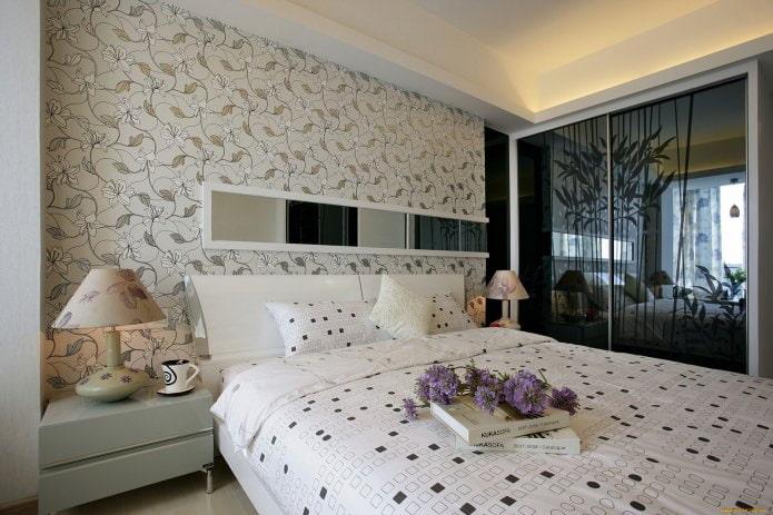 Papier peint à l'intérieur de la chambre: dessin de fleurs