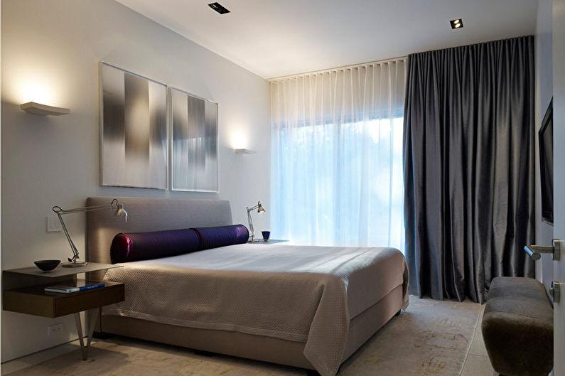 Chambre blanche dans le style du minimalisme - Design d'intérieur
