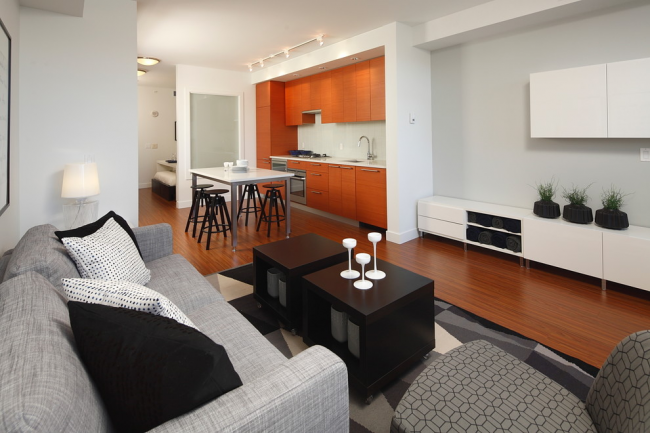 Appartement d'une chambre transformé en un confortable studio