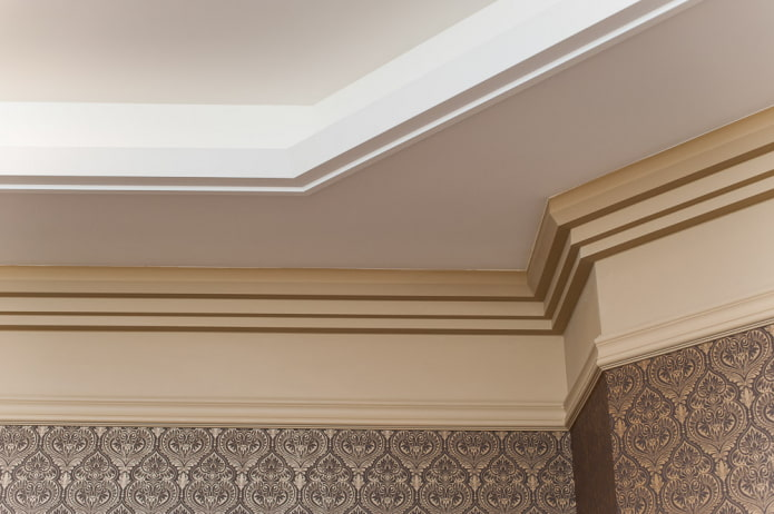 filet de plafond lisse