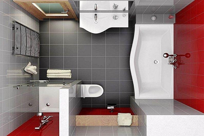 Conception de salle de bain 6 m²  - Mise en page
