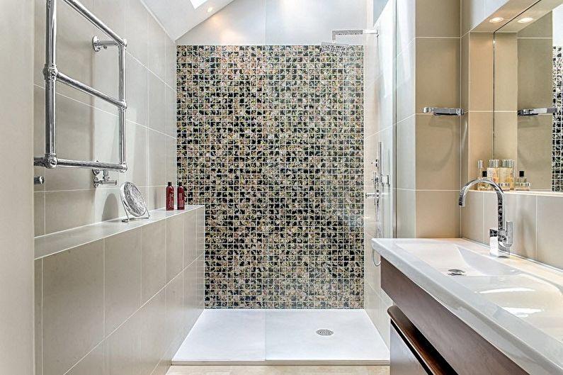 Conception de salle de bain 6 m²  - Décoration murale