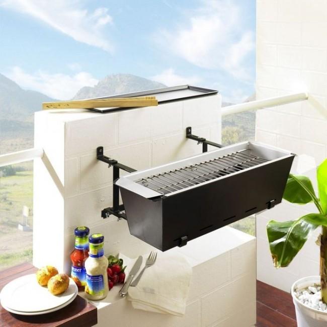 Même un espace barbecue peut être placé sur le balcon de type ouvert.