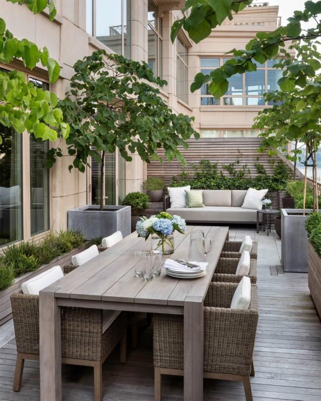 Belle conception de loggia, décorée de plantes d'intérieur