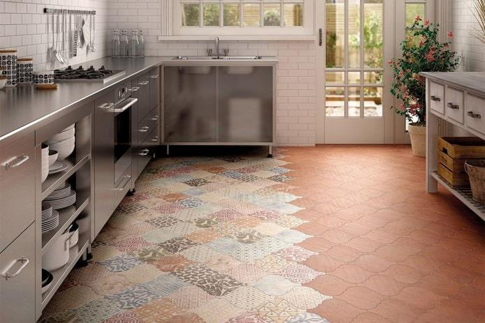 carreaux de patchwork au sol